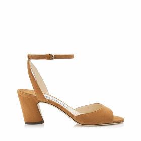 MIRANDA 65 Cuoio Suede Block Heel Sandal