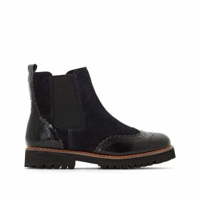 Dual Leather Ankle Boots