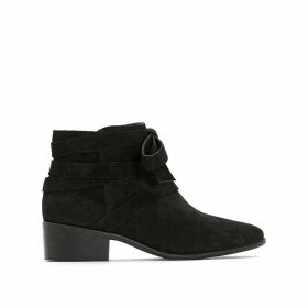 Leather Ankle Boots with Buckle Detail