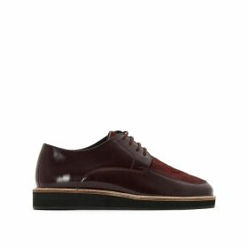 Patent Leather Flatform Brogues