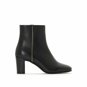 Deaclan Heeled Leather Ankle Boots