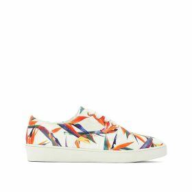 Floral Print Canvas Trainers