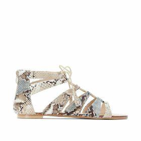 Wide Fit Snake PrintGladiator Sandals