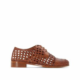 Leather Openwork Weave Brogues