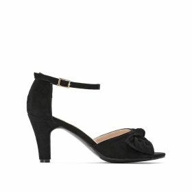 Wide Fit Stiletto Sandals with Bow