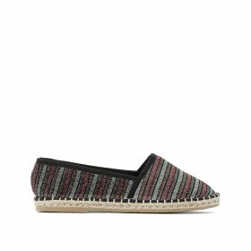 Metallic Striped Espadrilles