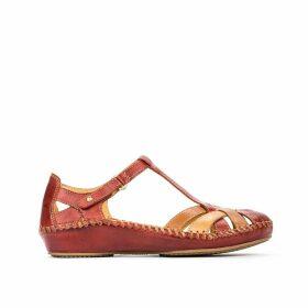 P Vallarta Leather Sandals