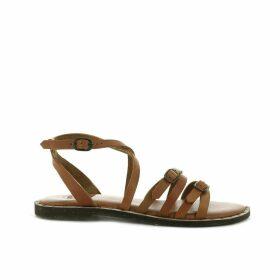 Virgule Leather Sandals