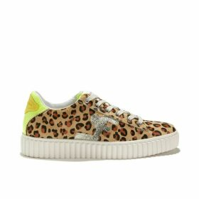 Madisson Leopard Print Lace-Up Trainers