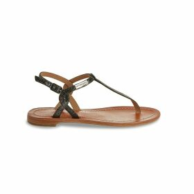 Billy Leather Flat Sandals with Sling-Back