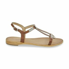 Hamesss Leather Flat Sandals with Sling-Back