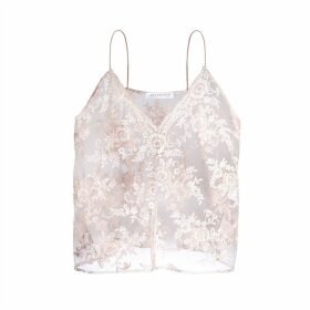 JIRI KALFAR - Dusty Pink Embroidered Top