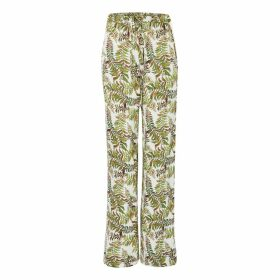 JIRI KALFAR - Latte Silk Blouse With Cuffed Sleeves