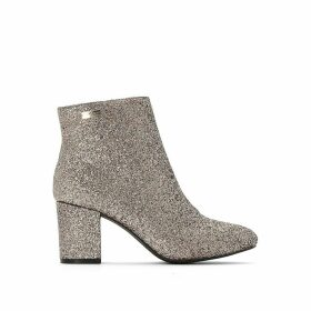 Clora Glitter Ankle Boots with Block High Heel