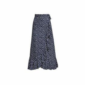 Rumour London - Stella Ruffled Floral-Print Wrap Skirt