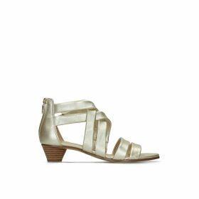 Mena Silk Leather Sandals