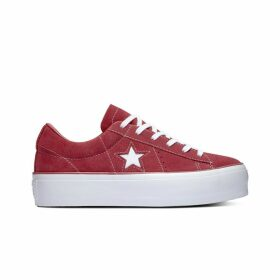 One Star Platform Suede Low Top Trainers