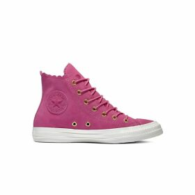 Chuck Taylor All Star Suede Frilly Thrills High Top Trainers
