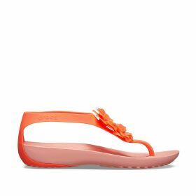Serena Embellish Flat Sandals with Floral Detail