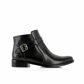 Post Leather Ankle Boots