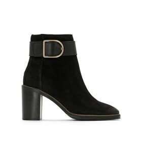 Krissy High Heeled Suede Ankle Boots