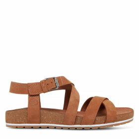 Timberland Malibu Waves Strap Sandal For Women In Light Brown Light Brown, Size 9