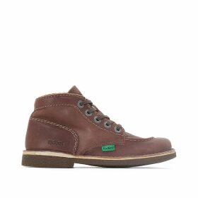 Legendiknew Leather Lace-Up Ankle Boots