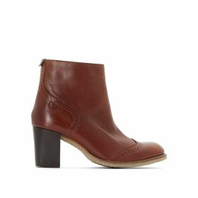 Misty Heeled Leather Ankle Boots