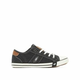 Lace-Up Canvas Trainers