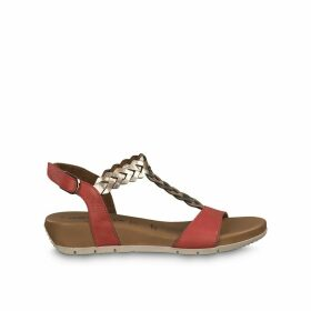 Miki Leather Heeled Sandals with Braided Strap