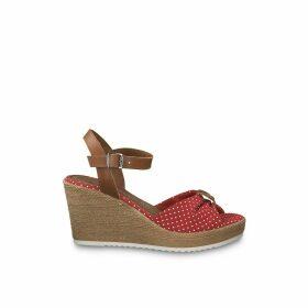 Battia Wedge Heel Sandals in Floral Print