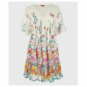 Fragon Boho Short Ruffled Dress