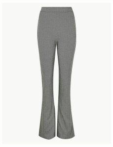 M&S Collection Herringbone Slim Bootcut Trousers