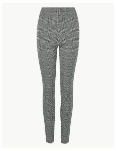 M&S Collection Checked Ankle Grazer Treggings