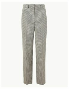 M&S Collection Checked Straight Fit Trousers