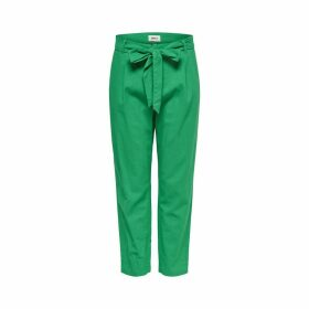 Straight Leg Trousers with Belt