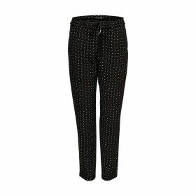 Polka Dot Straight Trousers