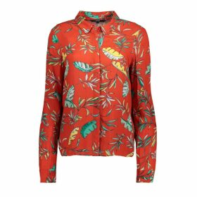 Palm Print Long-Sleeved Shirt