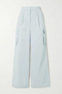La Ligne - Classique Striped Stretch Cotton-jersey T-shirt - Light blue