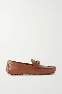 Miu Miu - Cropped Striped Cashmere Sweater - Red