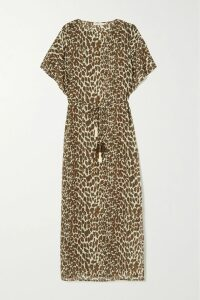 Yvonne S - Hippy Tiered Printed Cotton Maxi Dress - Black