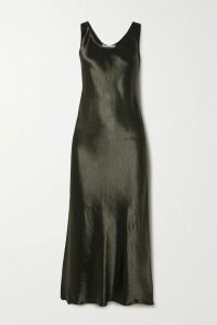 3.1 Phillip Lim - Faux Pearl-embellished Satin-trimmed Knitted Sweater - Gray
