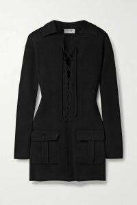 Miu Miu - Sequin-embellished Velvet-trimmed Cady Jacket - Pink