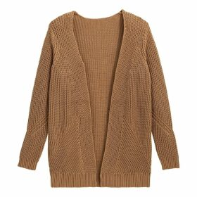 Chunky Knit Cotton Open Cardigan