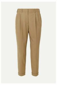 Nili Lotan - Montana Wool-blend Tapered Pants - Beige