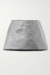 MM6 Maison Margiela - Satin-trimmed Pintucked Cotton-poplin Dress - White
