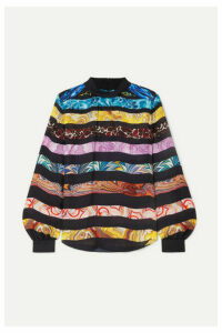 Mary Katrantzou - Venus Printed Silk-chiffon Blouse - Black