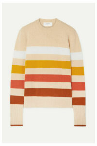 La Ligne - Aaa Candy Striped Wool And Cashmere-blend Sweater - Cream