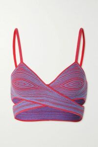 Preen by Thornton Bregazzi - Athena Ruffled Printed Devoré-chiffon Blouse - Blue