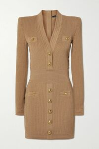 Simone Rocha - Pintucked Cotton-poplin Mini Dress - Black